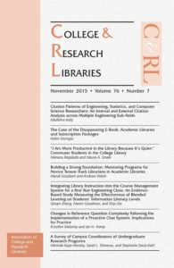 New Article on Mentoring in College & Research Libraries Journal